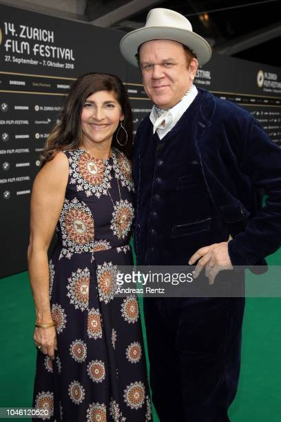 John C Reilly and his wife Alison Dickey attend the 'The Sisters Brothers' premiere during the 14th Zurich Film Festival at Kino Corso on September...