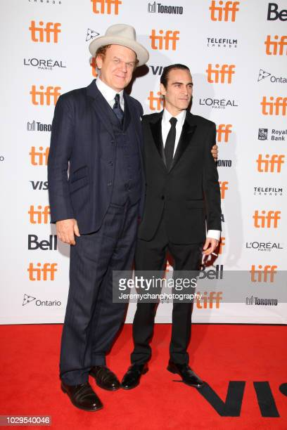 John C Reilly and Joaquin Phoenix attend the 'The Sisters Brothers' Premiere during the 2018 Toronto International Film Festival at Princess of Wales...