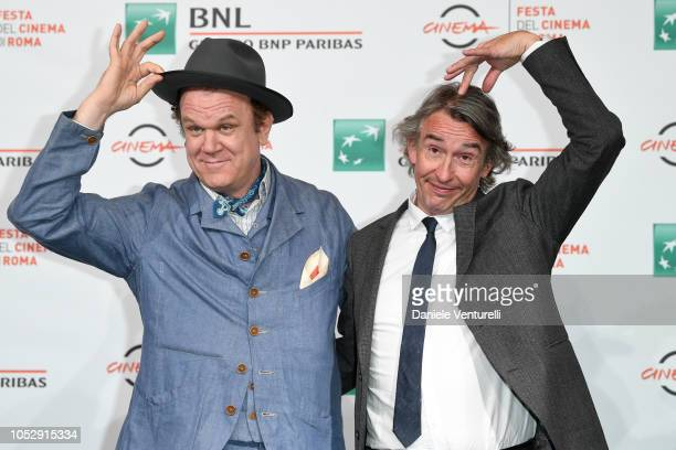 John C Reilly and Steve Coogan attend Stan Ollie photocall during the 13th Rome Film Fest at Auditorium Parco Della Musica on October 24 2018 in Rome...