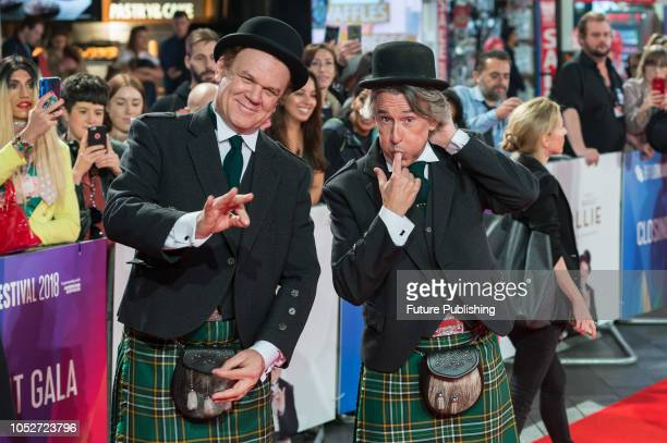 John C Reilly and Steve Coogan attend the World Premiere of 'Stan & Ollie' at Cineworld, Leicester Square, during the 62nd London Film Festival...