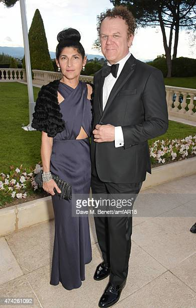 John C Reilly and wife Alison Dickey arrive at amfAR's 22nd Cinema Against AIDS Gala Presented By Bold Films And Harry Winston at Hotel du CapEdenRoc...