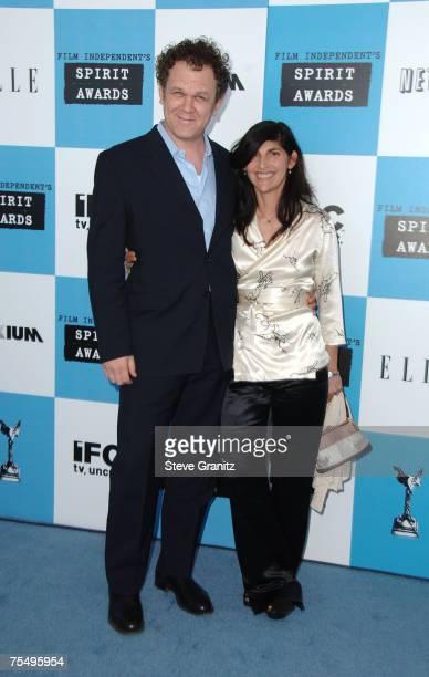 John C Reilly and wife Alison Dickey at the Santa Monica Pier in Santa Monica California