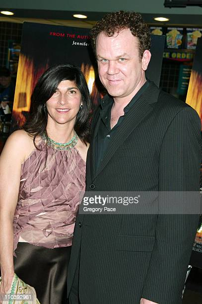 John C Reilly and wife Alison Dickey during Dark Water New York City Premiere Inside Arrivals at Clearview Chelsea West Cinema in New York City New...