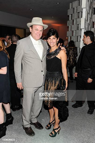 John C Reilly and wife attend 2012 Hammer Gala at Hammer Museum on October 6 2012 in Westwood California