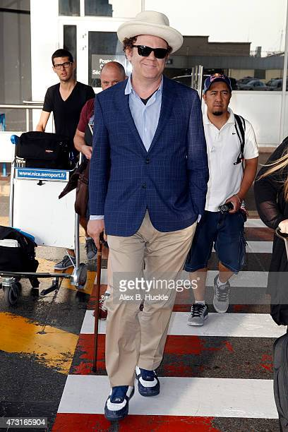 John C Reilly arrives at Nice Airport for The 68th Annual Cannes Film Festival on May 13 2015 in Nice France