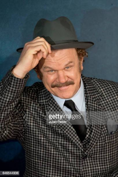 John C Reilly attends the European premiere of 'Kong Skull Island' at the Cineworld Empire Leicester Square on February 28 2017 in London United...