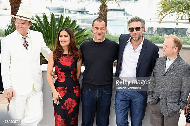 John C Reilly Salma Hayek Matteo Garrone Vincent Cassel and Toby Jones attend the Il Racconto Dei Racconti Photocall during the 68th annual Cannes...