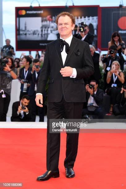 John C Reilly walks the red carpet ahead of the 'The Sisters Brothers' screening during the 75th Venice Film Festival at Sala Grande on September 2...