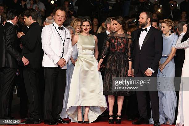 John C ReillyAngeliki PapouliaAriane LabedYorgos Lanthimos and Lea Seydoux attend the Premiere of 'The Lobster' during the 68th annual Cannes Film...