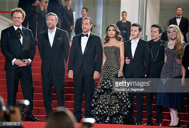 John C ReillyVincent CasselMatteo GarroneSalma HayekChristian LeesJonah Lees and Bebe Cave attend the Il Racconto Dei Racconti Premiere during the...
