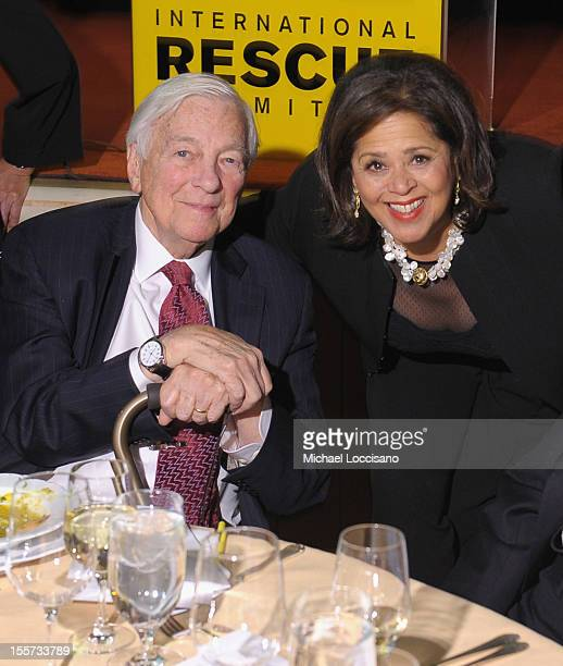 John C Whitehead and Anna Deavere Smith attend the annual Freedom Award Benefit hosted by the International Rescue Committee at The Waldorf=Astoria...