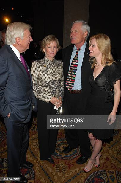 John C Whitehead Ted Turner and Elizabeth Dewberry attend UNAUSA 2007 GLOBAL LEADERSHIP AWARD Dinner at Cipriani Wall Street NYC on October 25 2007