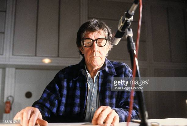 John Cage American composer 1981