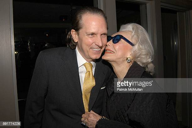 John Cahill and Anne Slater attend Champagne Perrier Jouet Launch of the 1998 Fleur de Champagne at Soho Grand Penthouse Lofts on October 17 2005 in...