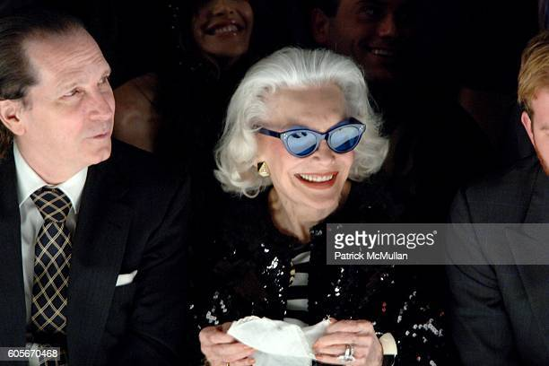 John Cahill and Anne Slater attend HEATHERETTE Fall 2006 Fashion Show at The Tent at Bryant Park on February 7 2006 in New York