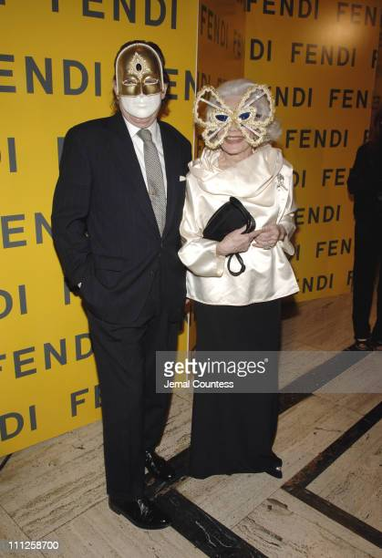 John Cahill and Anne Slater during Fendi Presents The All Hollows Eve Party at 25 Broadway in New York City New York United States