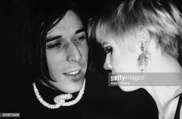 John Cale and Edie Sedgwick at the New York Society for Clinical Psychiatry annual dinner, The Delmonico Hotel, New York, 13th January 1966.