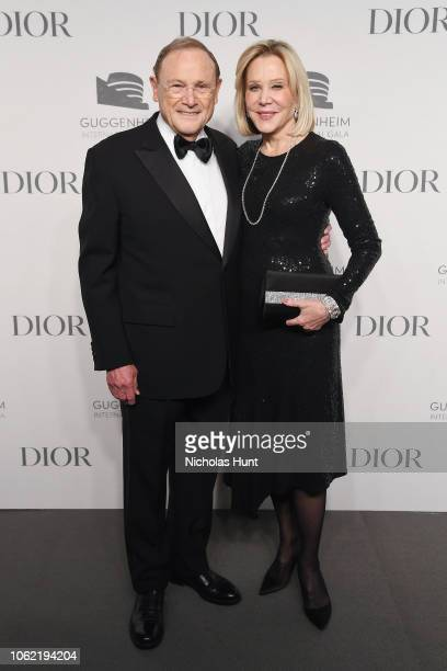 John Calicchio and Denise Calicchio attend the Guggenheim International Gala Dinner made possible by Dior at Solomon R Guggenheim Museum on November...