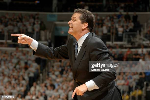 John Calipari, head coach Memphis State Tigers, during a college basketball game against the Georgetown Hoyas on December 13, 2008 at Verizon Center...