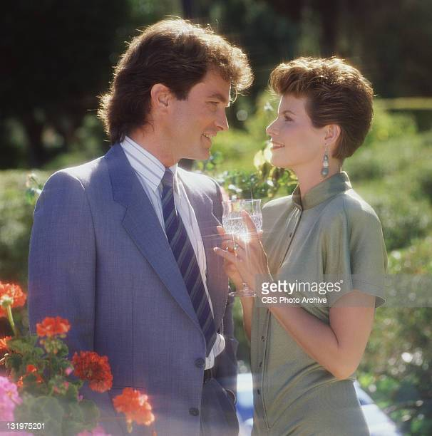 John Callahan and Dana Sparks in Falcon Crest.