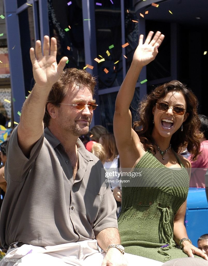 John Callahan and Eva La Rue during ABC Super Soap Weekend at Disney California Adventure at Disney California Adventure in Anaheim, California, United States.