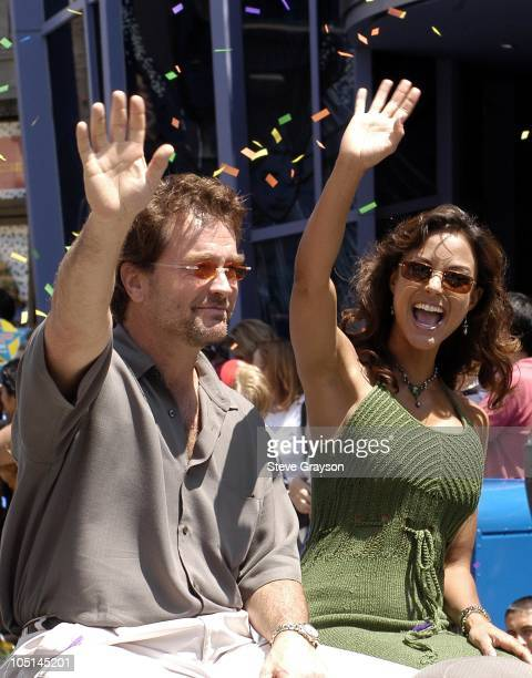 John Callahan and Eva La Rue during ABC Super Soap Weekend at Disney California Adventure at Disney California Adventure in Anaheim California United...