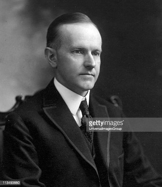 John Calvin Coolidge Jr 30th President of the United States Photographed in 1919