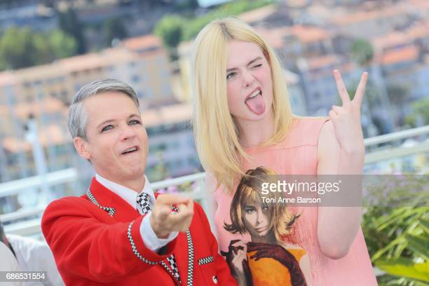 John Cameron and Elle Fanning attend the 'How To Talk To Girls At Parties' Photocall during the 70th annual Cannes Film Festival at Palais des...
