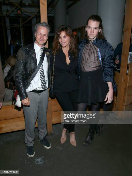 """John Cameron Michell, Gina Gershon, and guest attend the Gucci & The Cinema Society after party of Roadside Attractions' """"Beatriz At Dinner"""" at Mr...."""