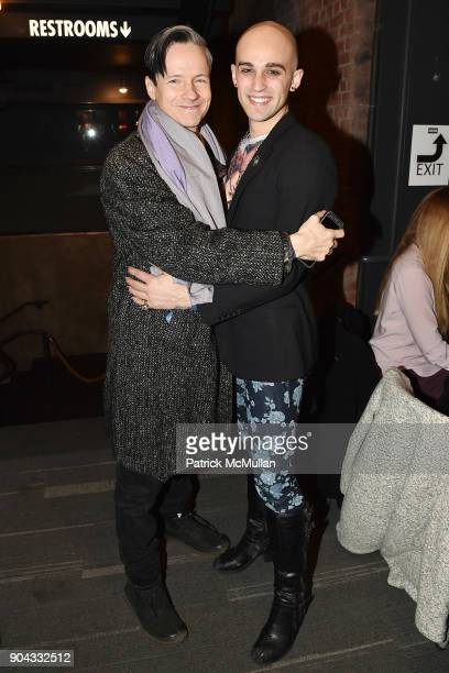 John Cameron Mitchell and Matthew ZanFagna attend The Cinema Society Bluemercury host the premiere of IFC Films' 'Freak Show' at Landmark Sunshine...