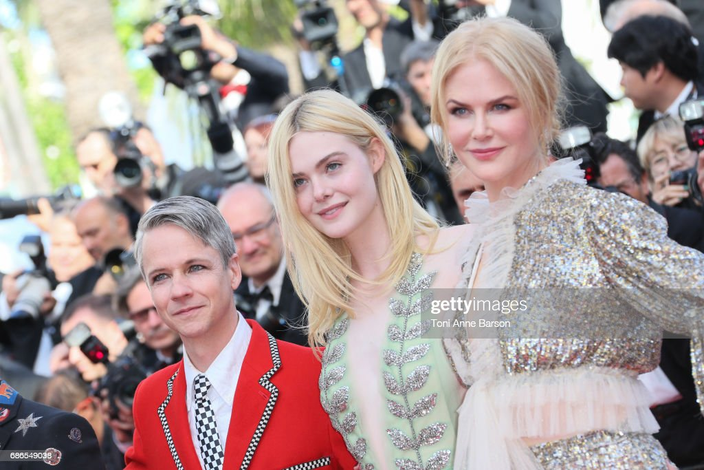 John Cameron Mitchell, Elle Fanning, Nicole Kidman attend the 'How To Talk To Girls At Parties' screening during the 70th annual Cannes Film Festival at Palais des Festivals on May 21, 2017 in Cannes, France.