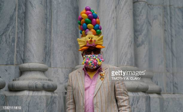John Caminiti stands outside of St. Patrick's Cathedral in New York on April 4 after Easter services were held at 50% capacity. - The annual Easter...