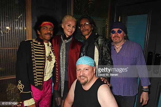 John Campbell Daphne Guinness Leon Hendrix Mark Arnold and Kevin O'Grady attend an evening celebrating 50 years to the day of Jimi Hendrix's first...