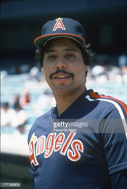 John Candelaria of the California Angels looks into the camera for this portrait prior to the start of a Major League Baseball game against the New...
