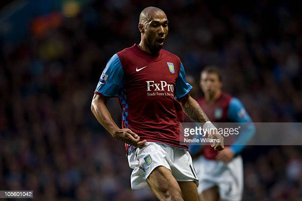 John Carew of Aston Villa during the Barclays Premier League match between Aston Villa and Chelsea at Villa Park on October 16, 2010 in London,...