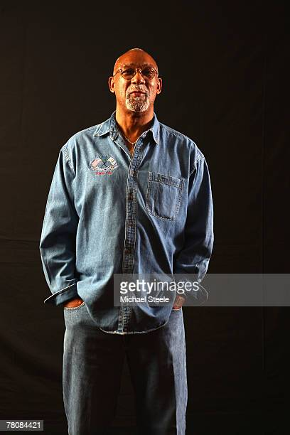 John Carlos of USA bronze medalist in the 200m from the 1968 Mexico Olympic Games poses for a portrait during the IAAF World Athletics Gala at the...