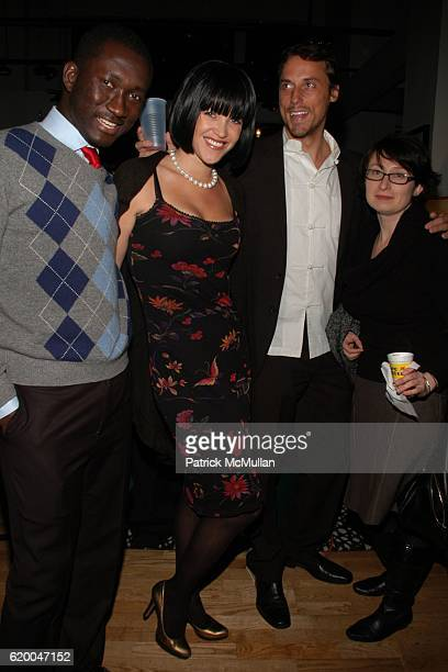 John Caroline Camron Bruce Cummings and Wuliya attend KolDesign and BoConcept's annual Holiday party at BoConcept on December 16 2008 in New York City