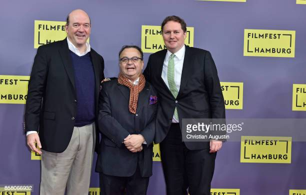 John Carroll Lynch Albert Wiederspiel and Carsten Brosda attend the premiere of 'Lucky' during the opening night of Hamburg Film Festival 2017 at...