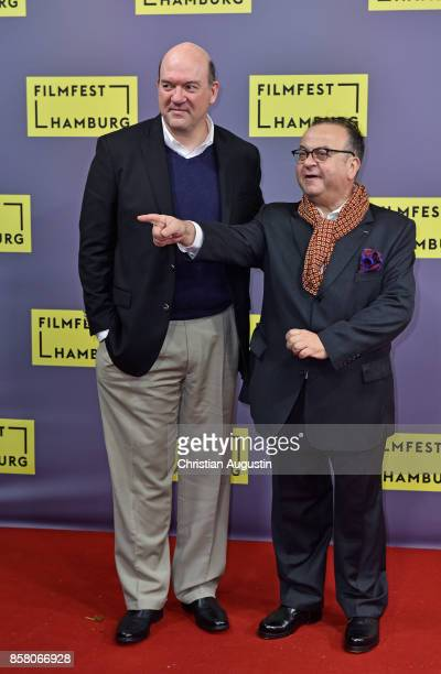 John Carroll Lynch and Albert Wiederspiel attend the premiere of 'Lucky' during the opening night of Hamburg Film Festival 2017 at Cinemaxx Dammtor...