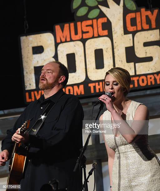 John Carter Cash and Ana Christina perform at John McEuen's 70th Birthday Christmas Jam at Music City Roots Live from the Factory on December 16 2015...