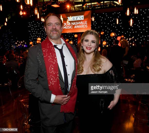 John Carter Cash and Ana Cristina Cash attend the 2018 SESAC Nashville Music Awards at Country Music Hall of Fame and Museum on November 11 2018 in...