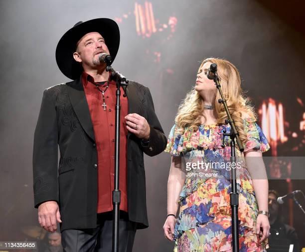 John Carter Cash and Ana Cristina Cash perform onstage for Loretta Lynn: An All-Star Birthday Celebration Concert at Bridgestone Arena on April 1,...
