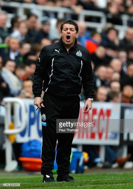 John Carver assitant manager of Newcastle United during the Barclays Premier League match between Newcastle United and Manchester United at St James'...