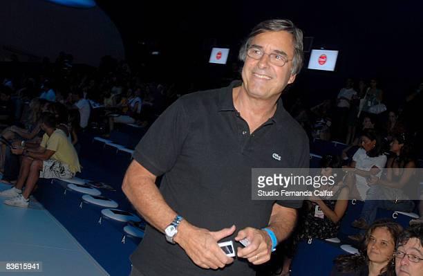 John Casablancas attends the Cia Maritima fashion show during Claro Rio Summer at Forte de Copacabana on November 8 2008 in Rio De Janeiro Brazil
