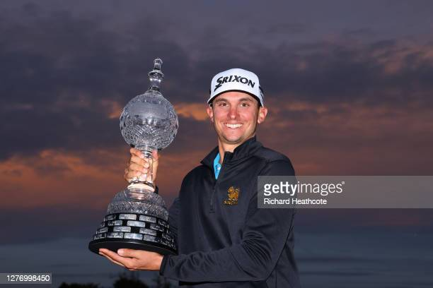 John Catlin of the United States poses with the trophy following his victory during Day Four of the Dubai Duty Free Irish Open at Galgorm Spa & Golf...