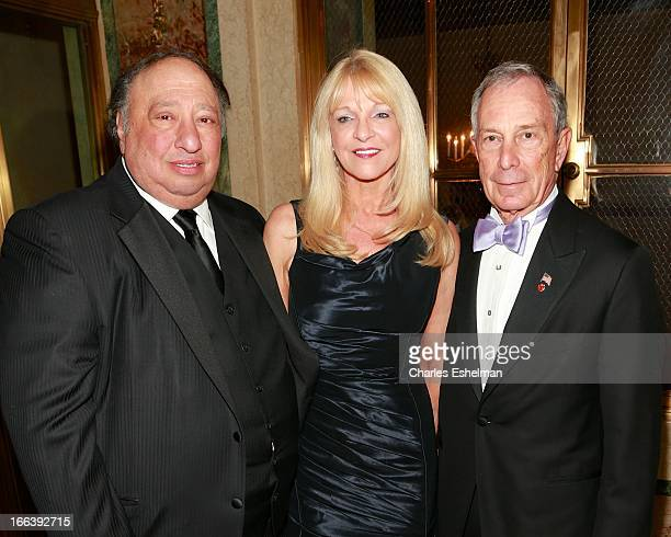 John Catsimatidis Margo Vondersaar and NYC Mayor Michael Bloomberg attend the 16th Annual ASPCA Bergh Ball at The Plaza Hotel on April 11 2013 in New...