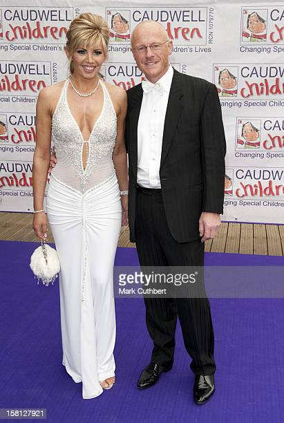 John Caudwell And Claire Johnson Arrive At The Caudwell Children Butterfly Ball At Battersea Evolution London