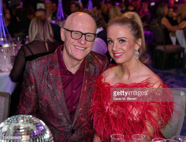 John Caudwell and Modesta Vzesniauskaite attend the Float Like A Butterfly Ball in aid of Caudwell Children at The Grosvenor House Hotel on November...