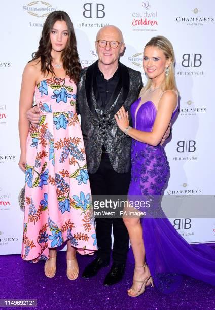 John Caudwell and Modesta Vzesniauskaite attending the Butterfly Ball Charity fundraiser held at the Grosvenor House Hotel London.