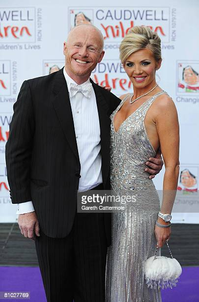 John Caudwell and partner Claire arrive for the Caudwell Children 'The Legends Ball' at Battersea Evolution on May 8 2008 in London England